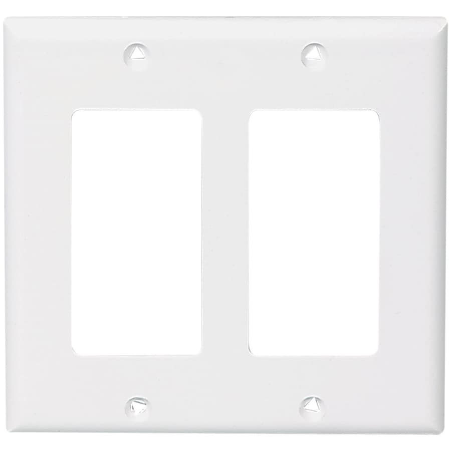 Cooper Wiring Devices 2-Gang White Decorator Wall Plate
