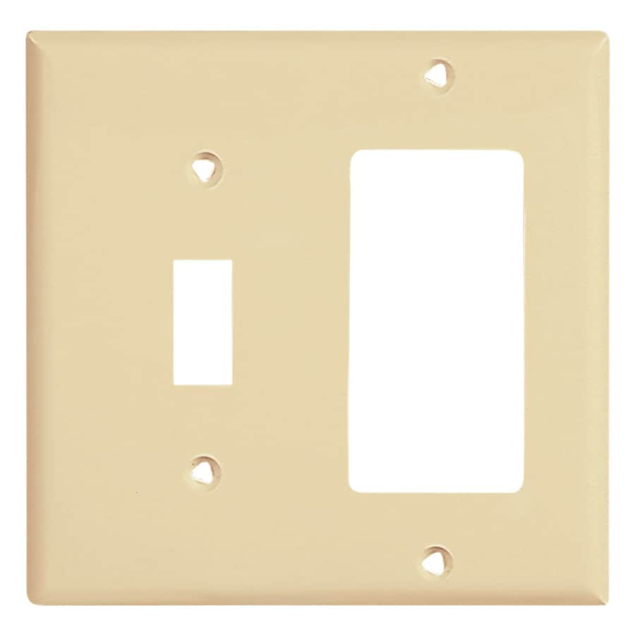 Cooper Wiring Devices 2-Gang Ivory Wall Plate