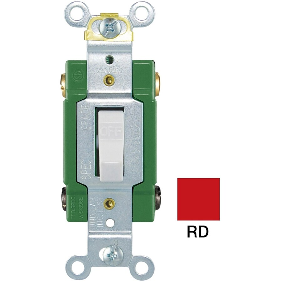 Cooper Wiring Devices Double Pole Red Light Switch