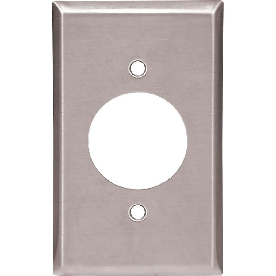 Cooper Wiring Devices 1-Gang Stainless Single Round Wall Plate