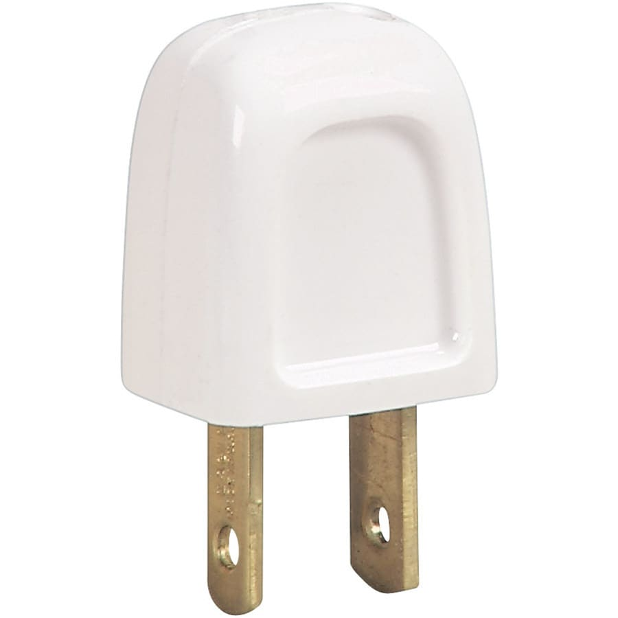 Cooper Wiring Devices 15-Amp 125-Volt White 2-Wire Polarized Plug