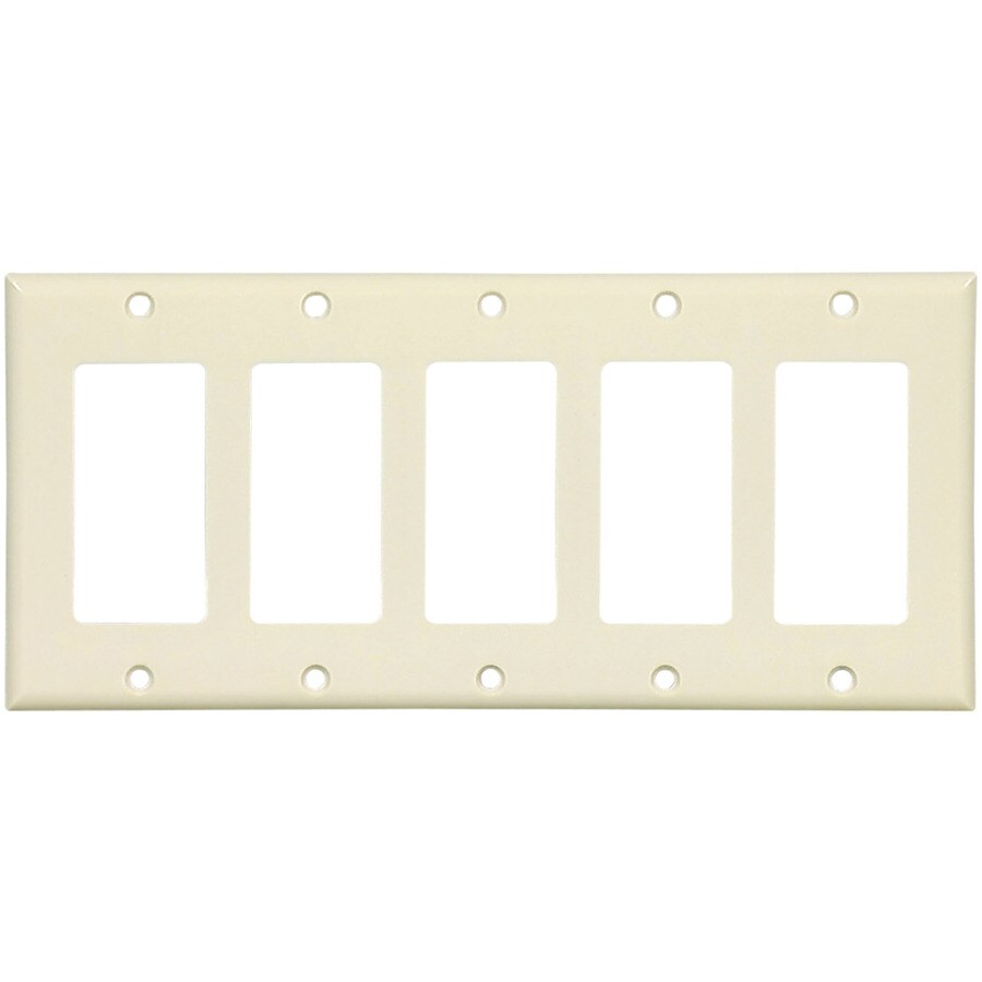 Cooper Wiring Devices 5-Gang Almond Decorator Wall Plate