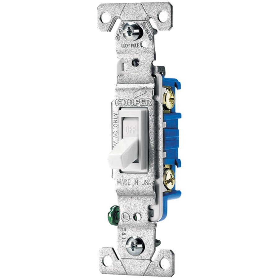Eaton 10-Pack 15-Amp Single Pole White Indoor Toggle Light Switches