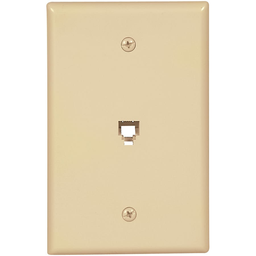 Eaton 1-Gang Ivory Single Phone Wall Plate