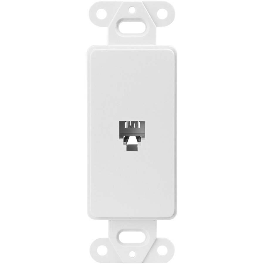 Cooper Wiring Devices 1-Gang White Phone Wall Plate