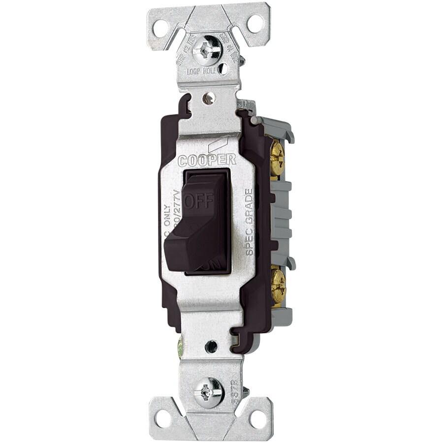 Eaton 20-Amp Single Pole Black Indoor Toggle Light Switch