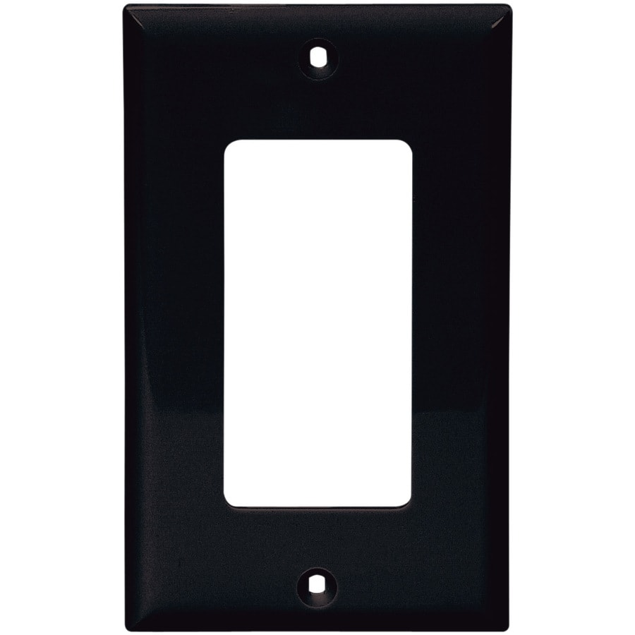 Cooper Wiring Devices 1-Gang Black Decorator Wall Plate