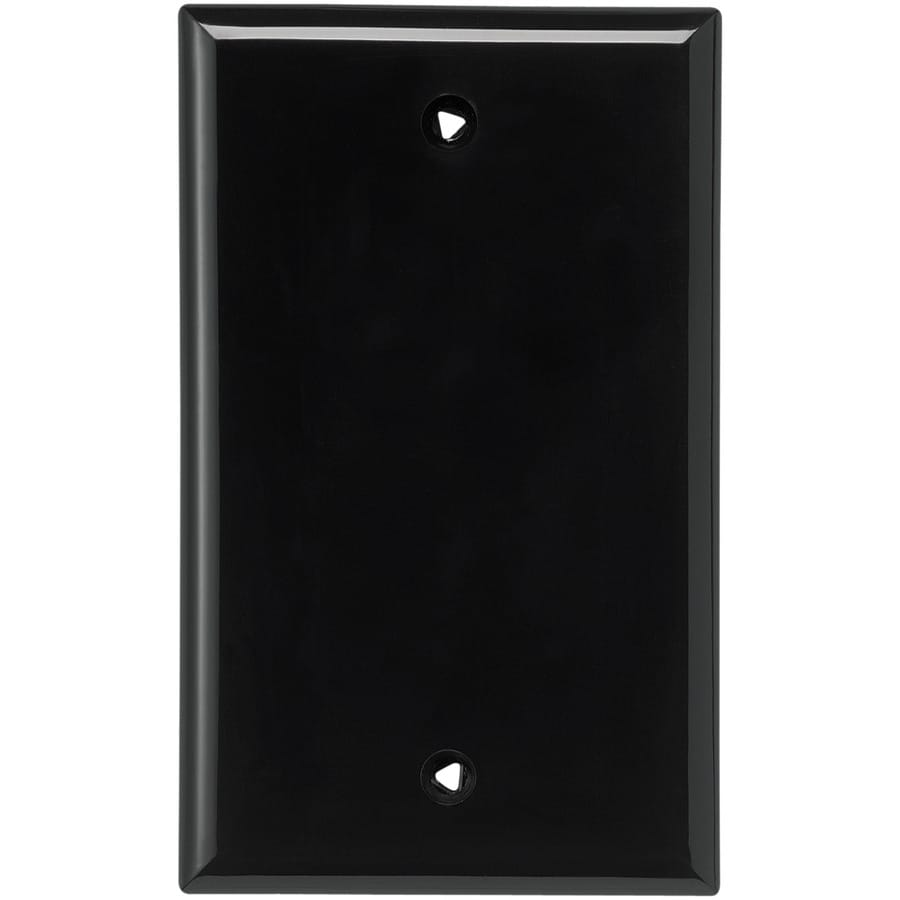 Cooper Wiring Devices 1-Gang Black Blank Wall Plate