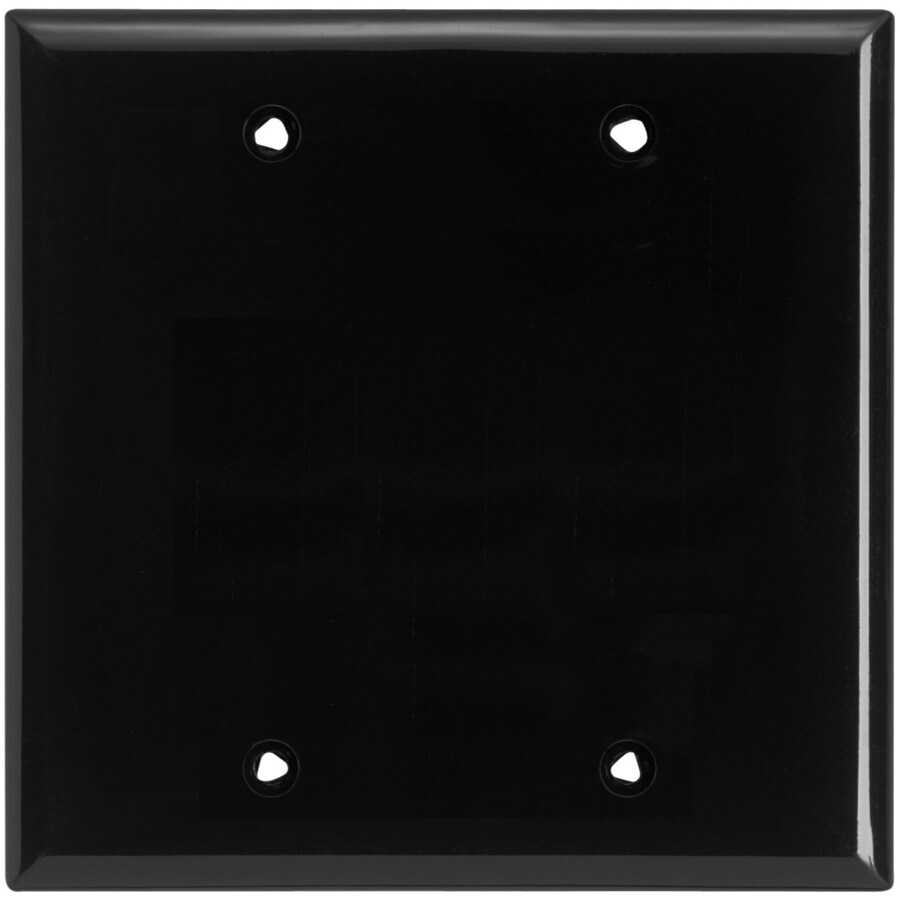 Cooper Wiring Devices 2-Gang Black Blank Wall Plate