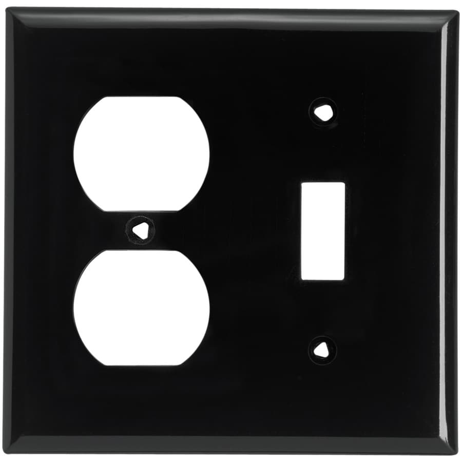 Cooper Wiring Devices 2-Gang Black Wall Plate