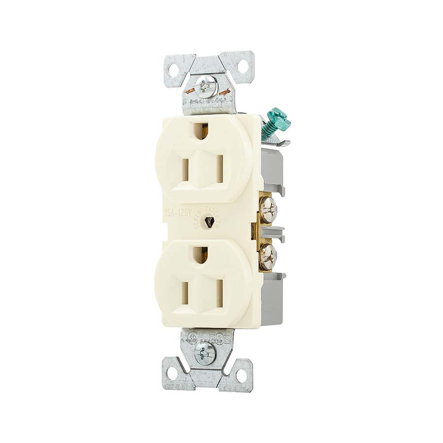 Cooper Wiring Devices 15-Amp 125-Volt Almond Duplex Electrical Outlet