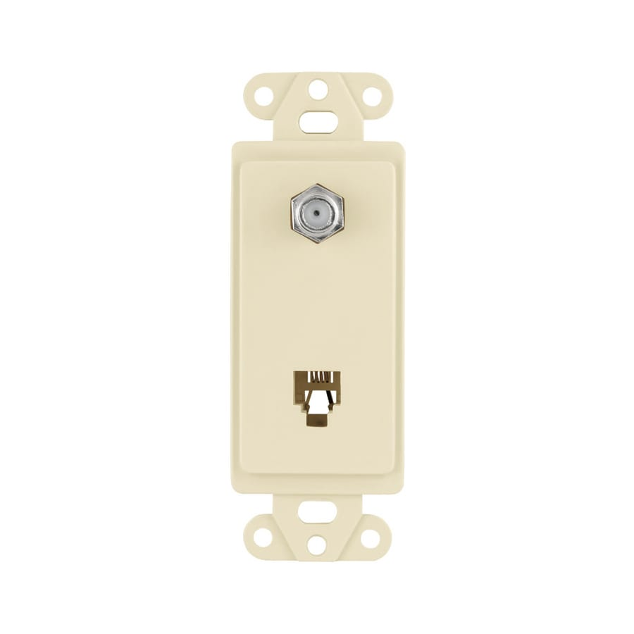Cooper Wiring Devices 1-Gang Almond Wall Plate
