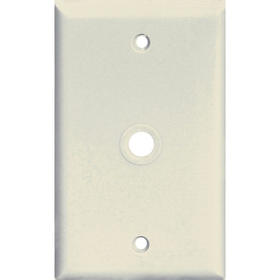 Cooper Wiring Devices 1-Gang Almond Coaxial Wall Plate