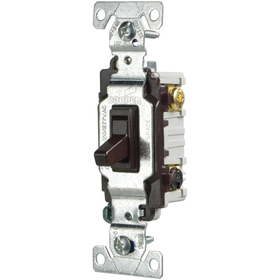 Wire 3 Way Switch Single Pole : Shop cooper wiring devices single pole way brown light