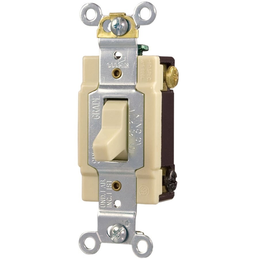 Wire 3 Way Switch Single Pole : Shop cooper wiring devices single pole way ivory light