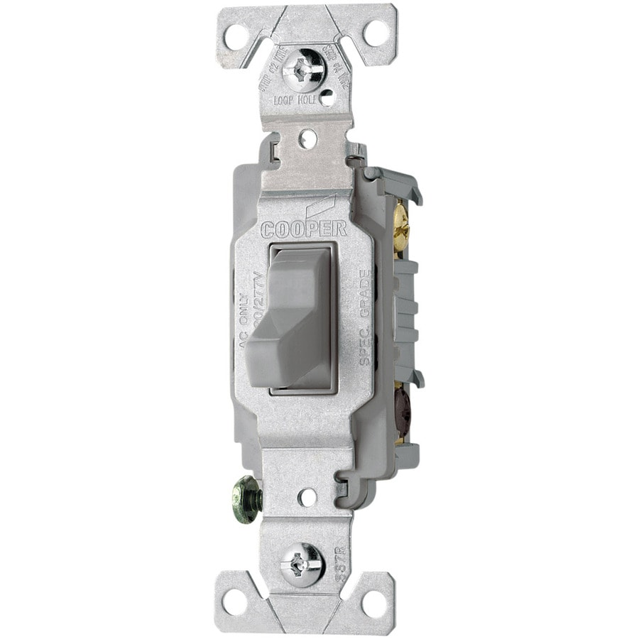 Cooper Wiring Devices 3-Way Single Pole Gray Light Switch