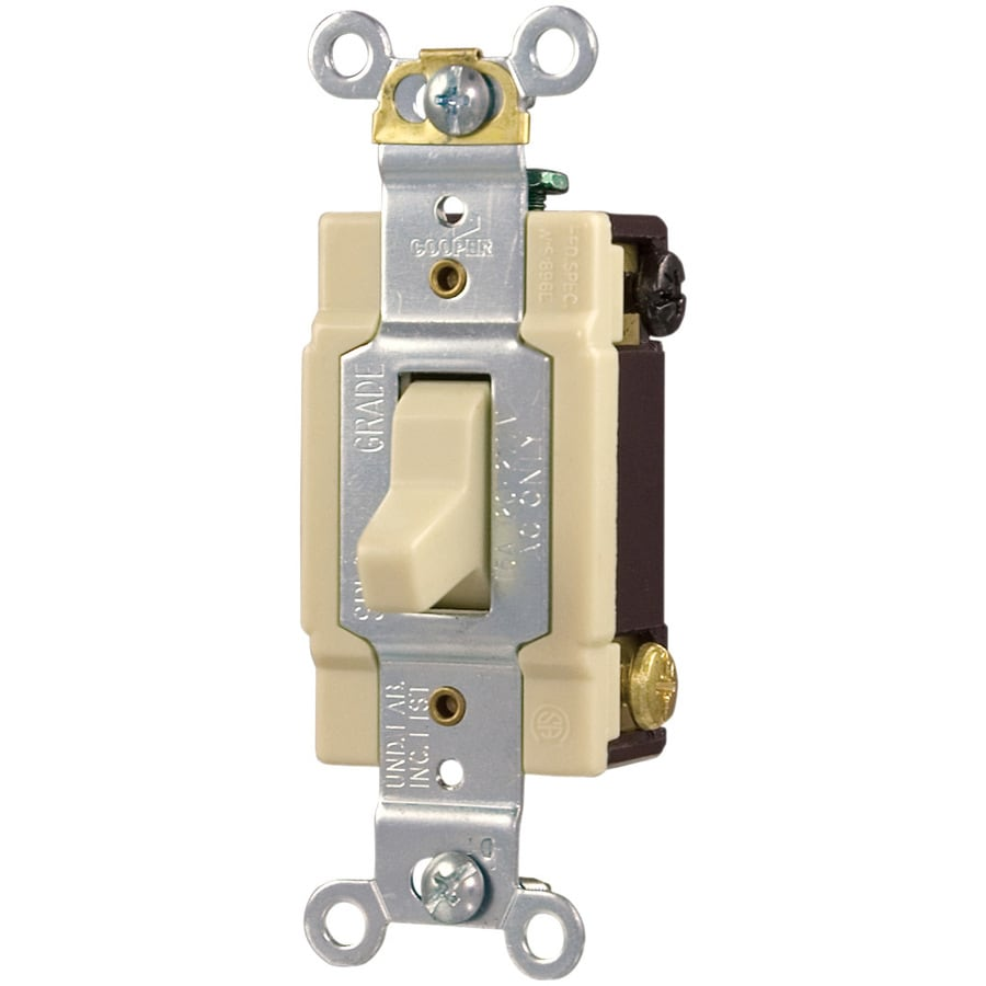 Cooper Wiring Devices 4-Way Ivory Light Switch