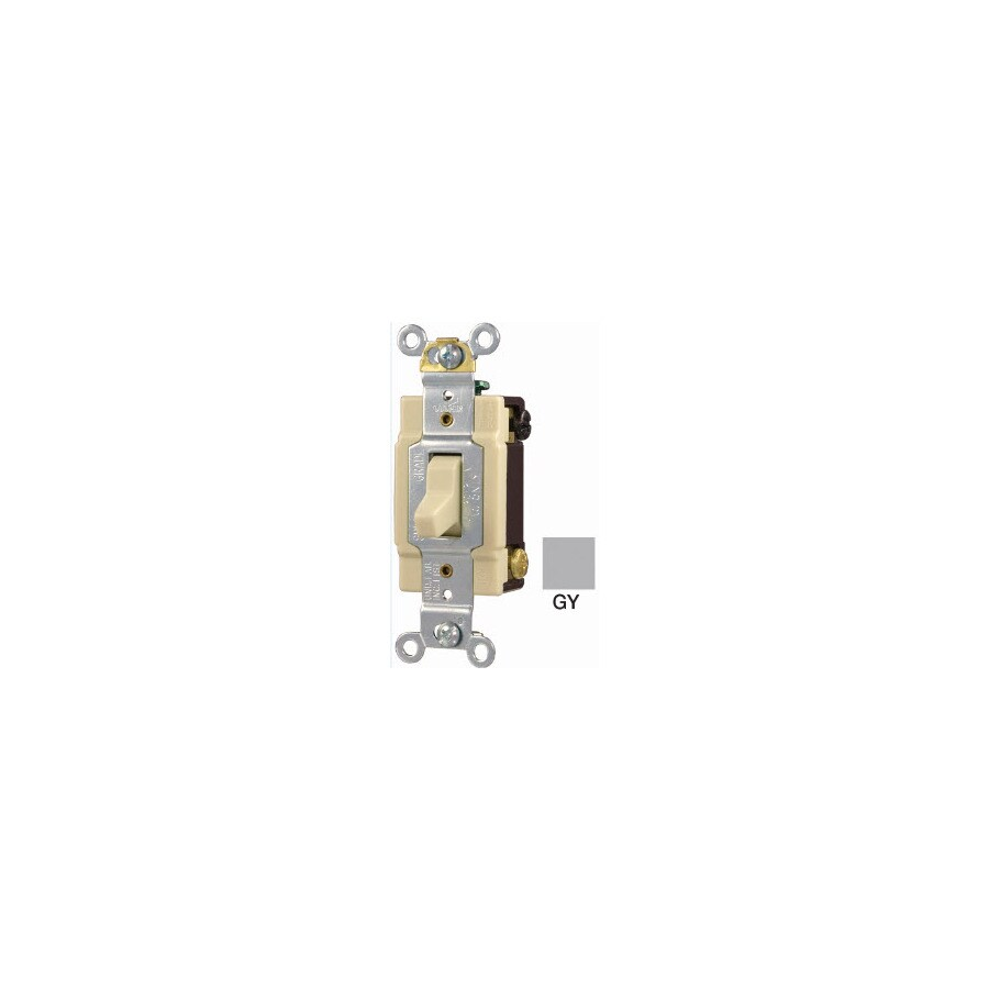 Cooper Wiring Devices 4-Way Gray Light Switch