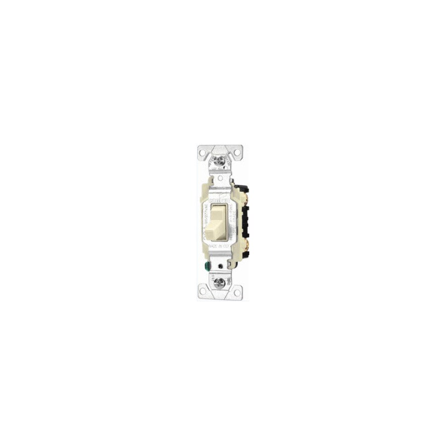 Cooper Wiring Devices 3-Way Single Pole Ivory Light Switch