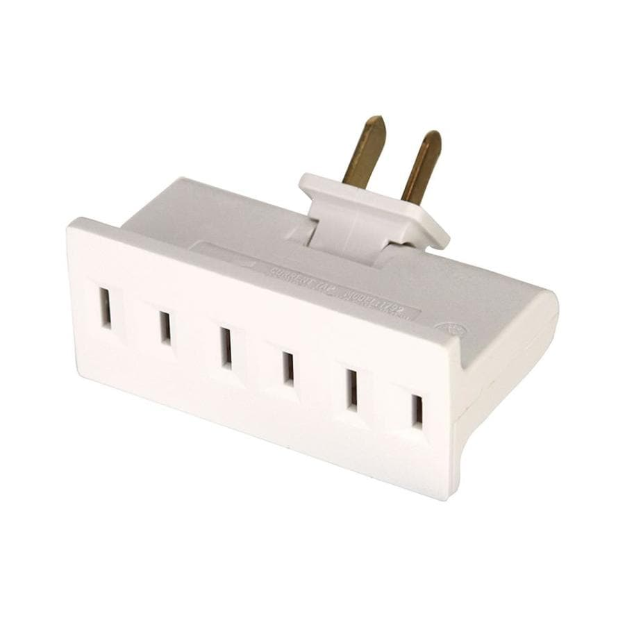 Cooper Wiring Devices 15-Amp 2-Wire Single to Triple White Basic Low Profile Adapter