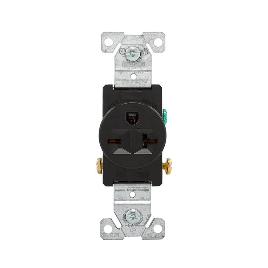 Cooper Wiring Devices 20-Amp 250-Volt Black Electrical Outlet