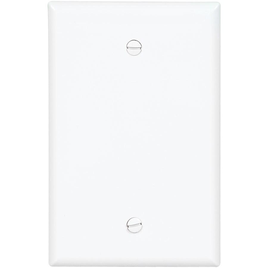 Eaton 1-Gang White Single Blank Wall Plate