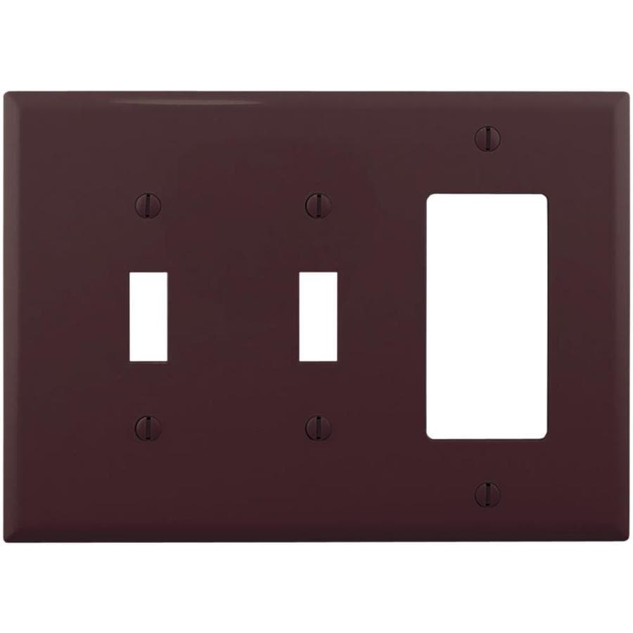 Cooper Wiring Devices 3-Gang Brown Wall Plate