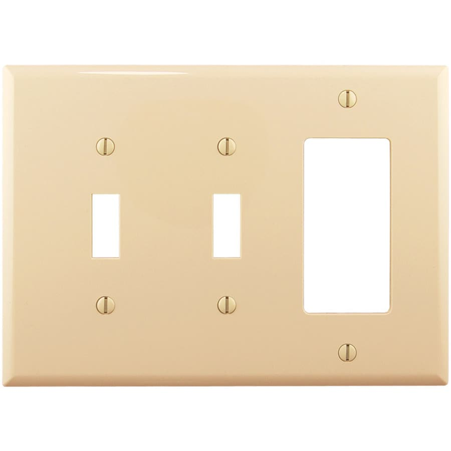 Cooper Wiring Devices 3-Gang Ivory Wall Plate