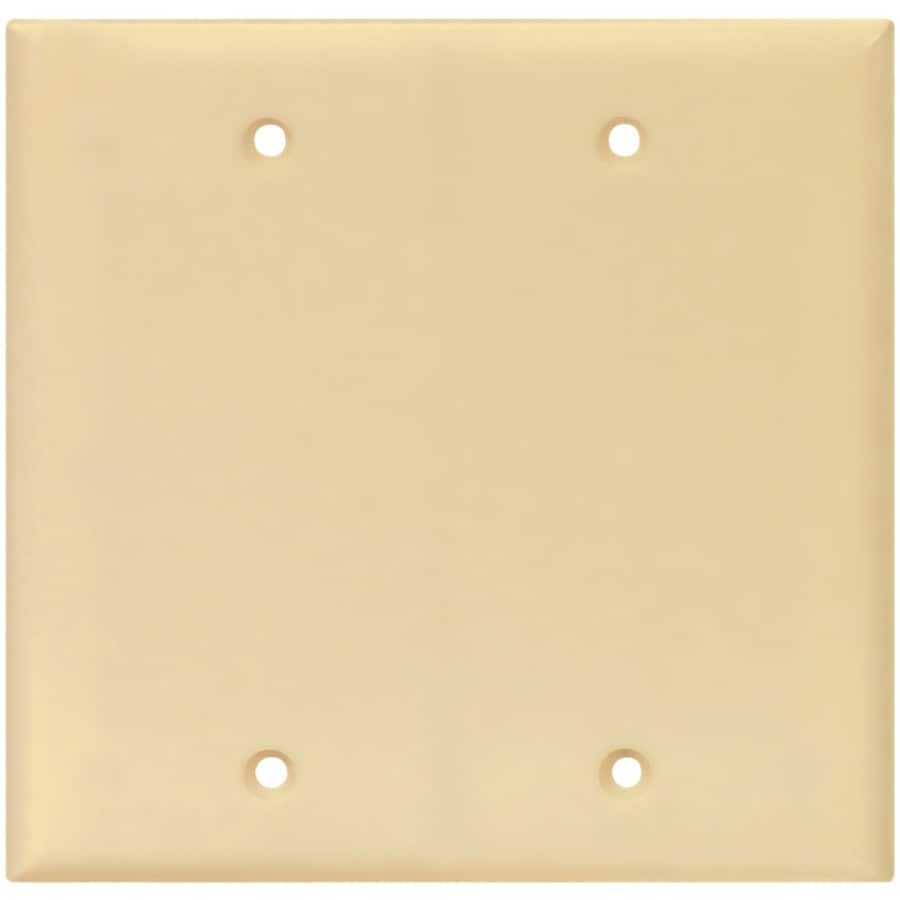 Cooper Wiring Devices 2-Gang Ivory Blank Wall Plate