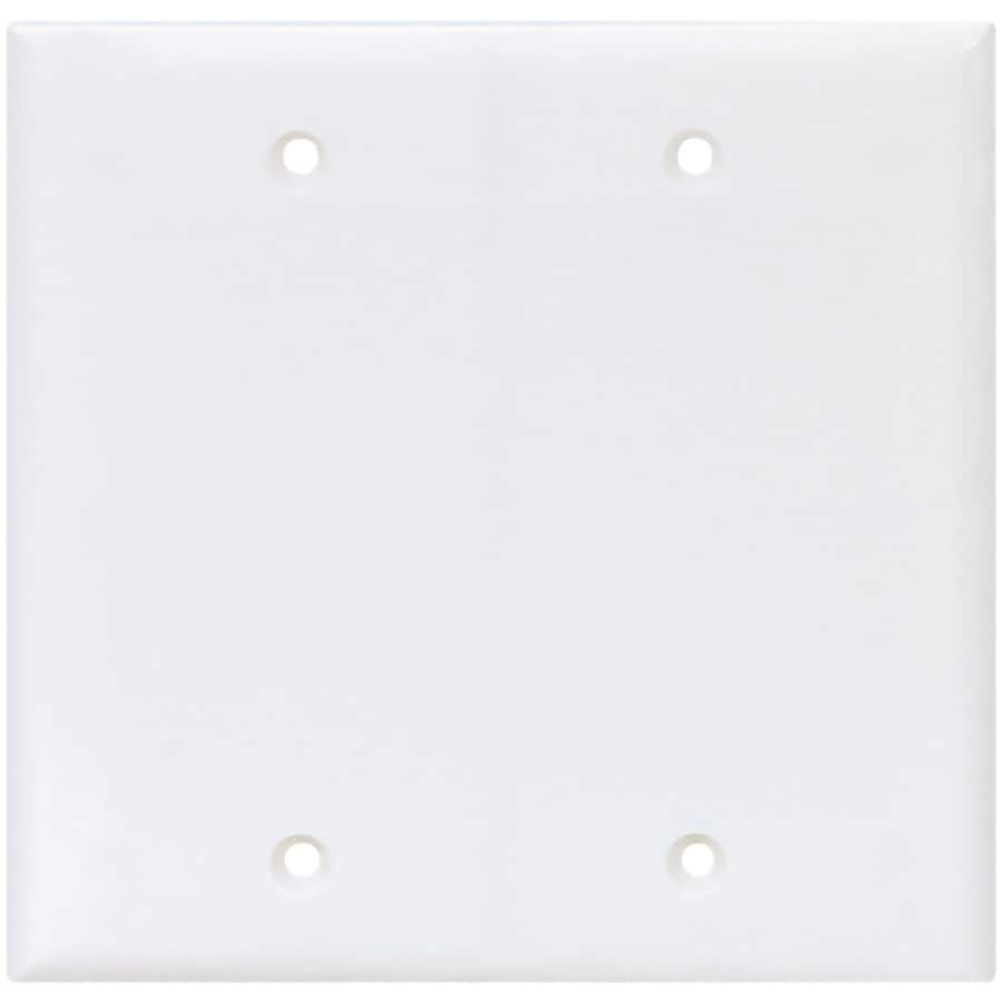Cooper Wiring Devices 2-Gang White Blank Wall Plate