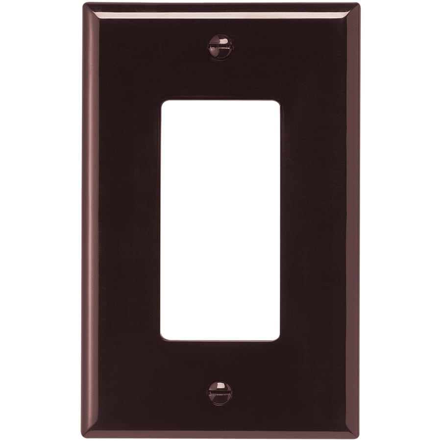 Cooper Wiring Devices 1-Gang Brown Decorator Wall Plate