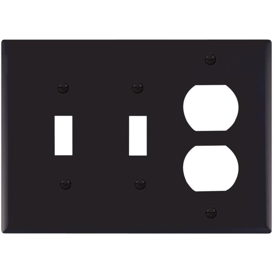 Cooper Wiring Devices 3-Gang Black Wall Plate