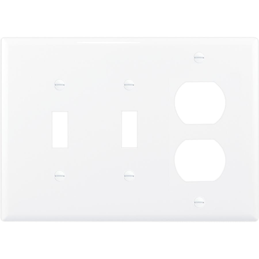 Cooper Wiring Devices 3-Gang White Combination Nylon Wall Plate