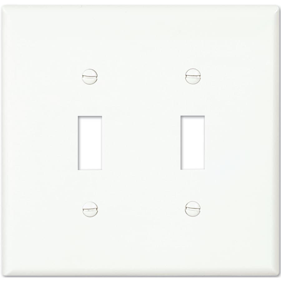 Eaton 2-Gang White Double Toggle Wall Plate