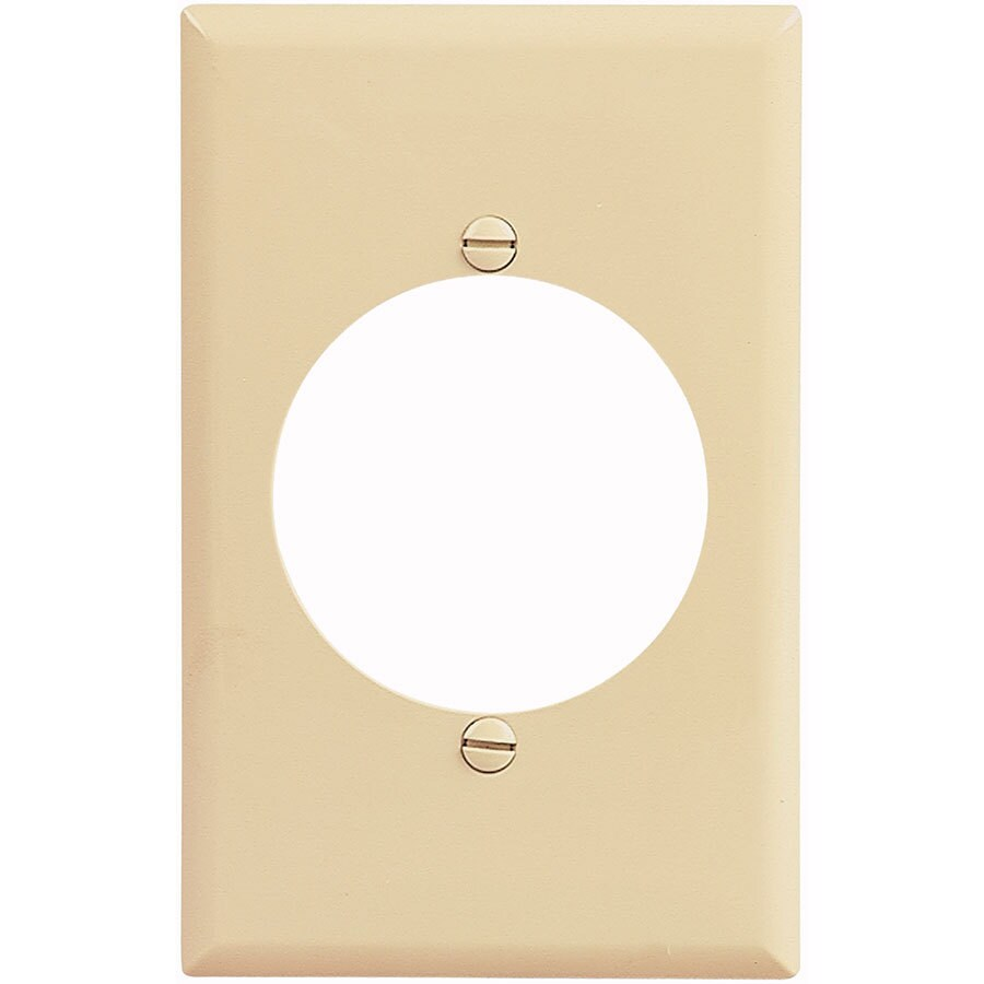 Eaton 1-Gang Ivory Single Round Wall Plate