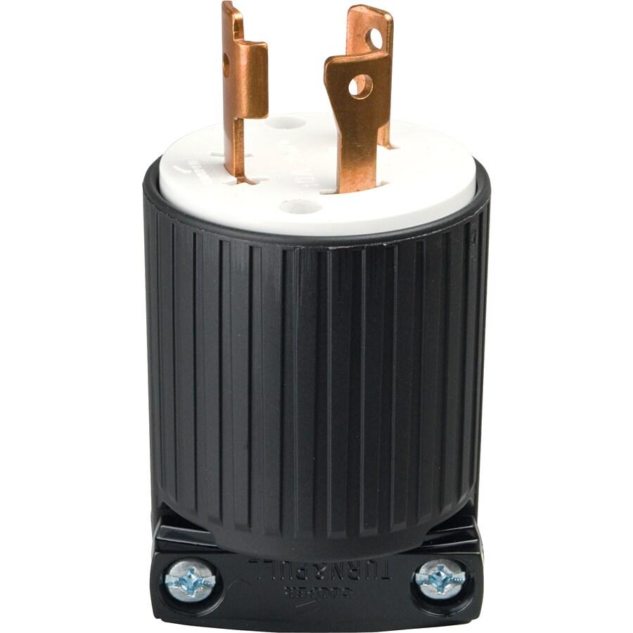 Cooper Wiring Devices 30-Amp 250-Volt Black 3-Wire Plug