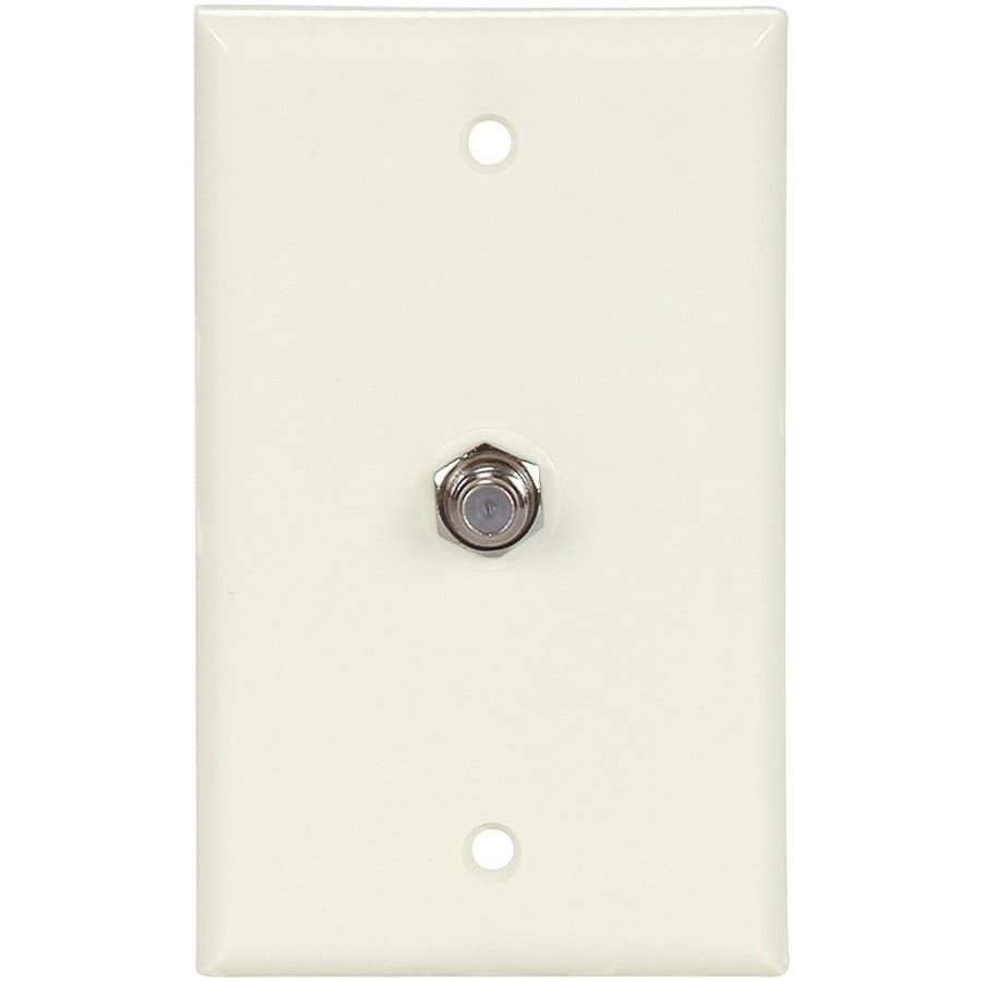 Cooper Wiring Devices 1-Gang Light Almond Coaxial Wall Plate