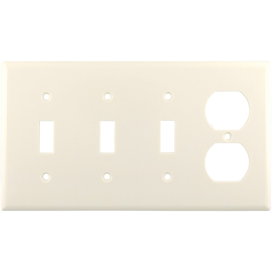 Cooper Wiring Devices 4-Gang Light Almond Wall Plate