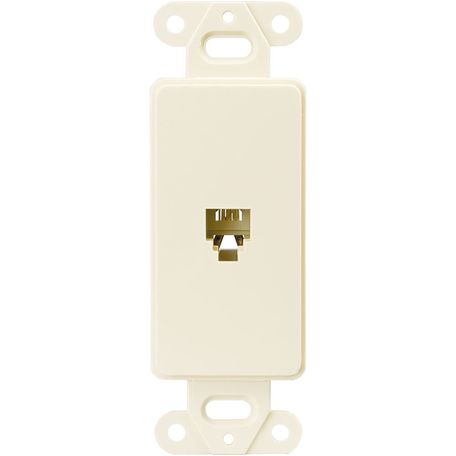 Eaton 1-Gang Light Almond Single Decorator Phone Wall Plate Insert