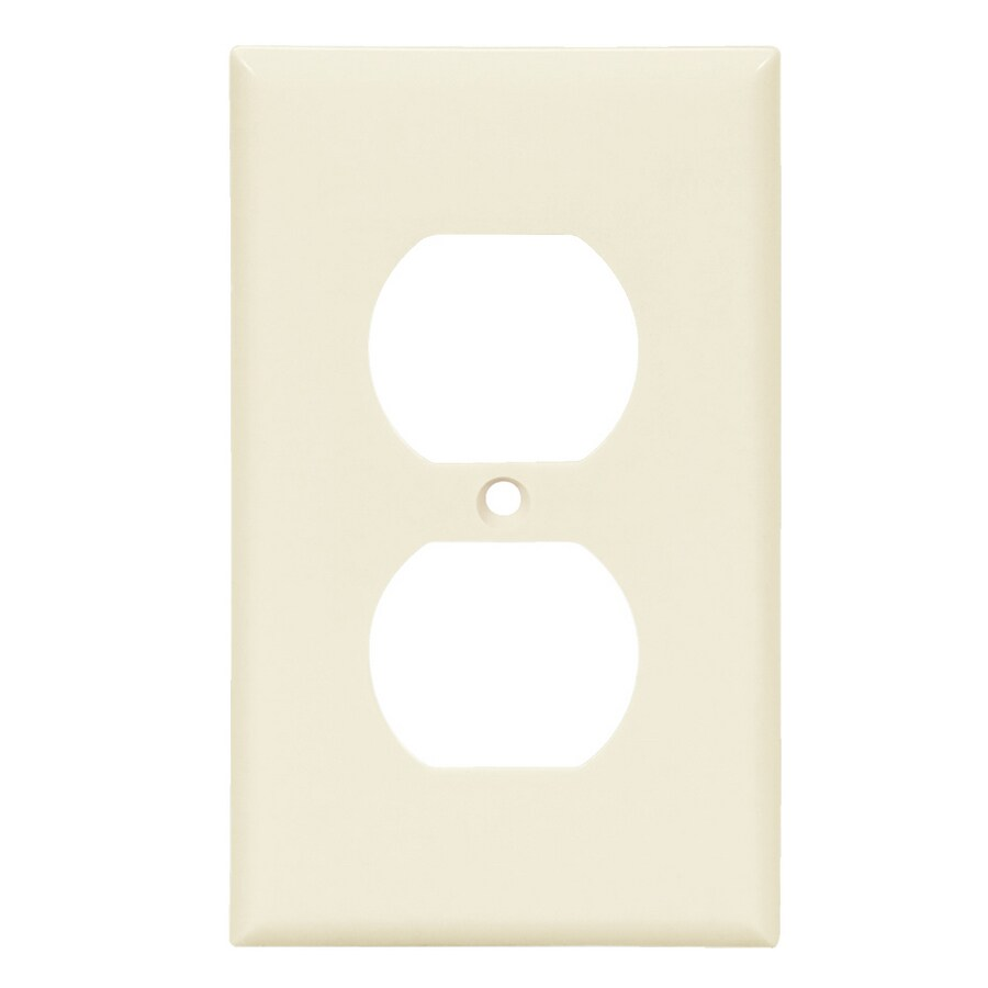 Cooper Wiring Devices 1-Gang Light Almond Round Wall Plate