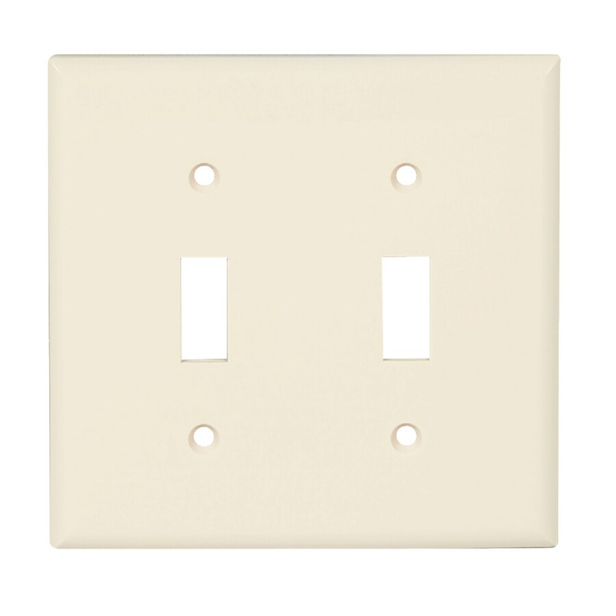 Cooper Wiring Devices 2-Gang Light Almond Toggle Wall Plate