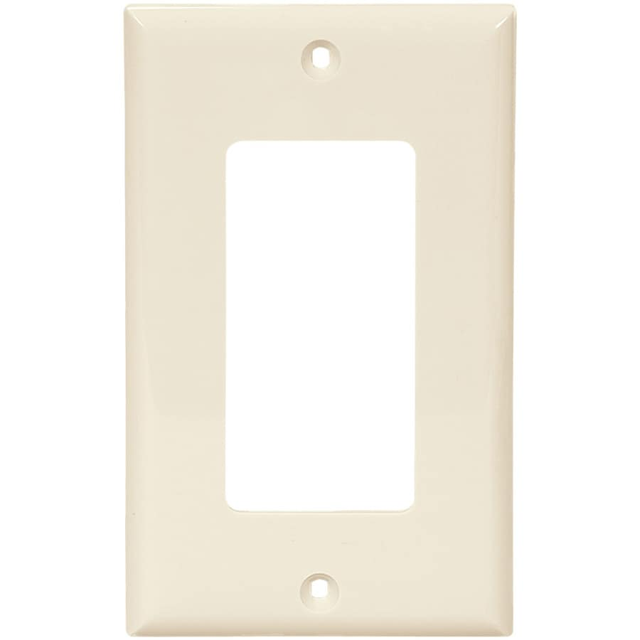 Cooper Wiring Devices 1-Gang Light Almond Decorator Wall Plate