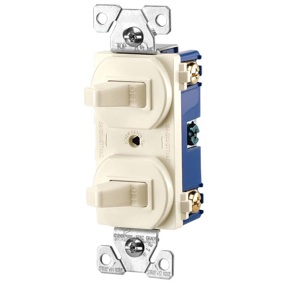 Cooper Wiring Devices Light Almond Light Switch