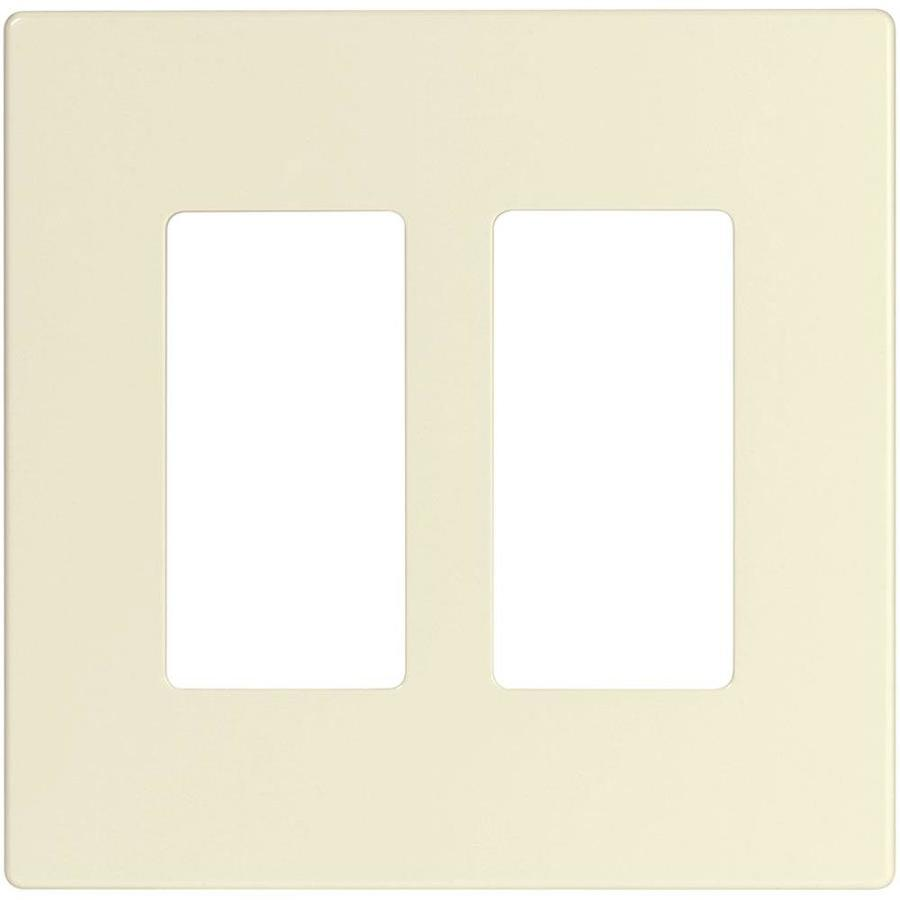 Eaton 2-Gang Light Almond Double Decorator Wall Plate