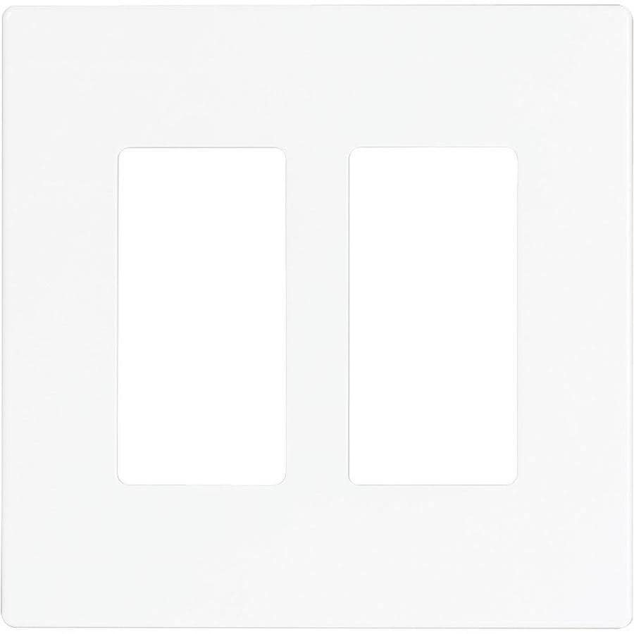 Eaton 2-Gang White Double Decorator Wall Plate