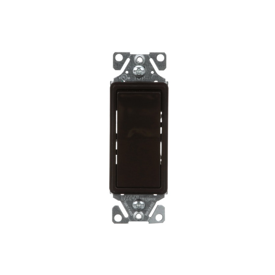 Eaton 15-Amp Single Pole Brown Indoor Rocker Light Switch