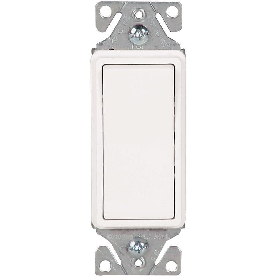 Eaton 15-Amp 3-Way Single Pole White Indoor Rocker Light Switch
