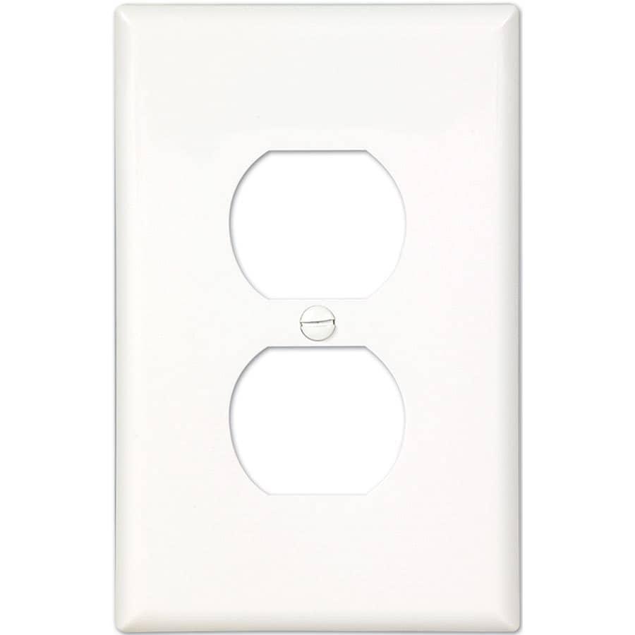 Eaton 10-Pack 1-Gang White Single Duplex Wall Plates