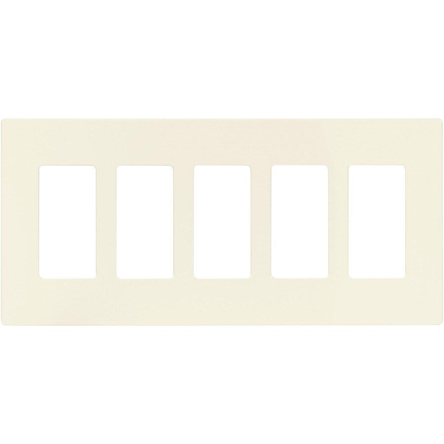 Cooper Wiring Devices Aspire 5-Gang Desert Sand Screwless Decorator Wall Plate