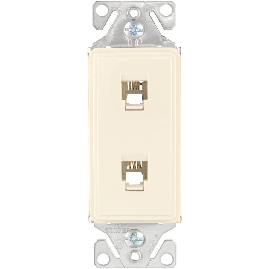 Cooper Wiring Devices Aspire 1-Gang Desert Sand Phone Wall Plate